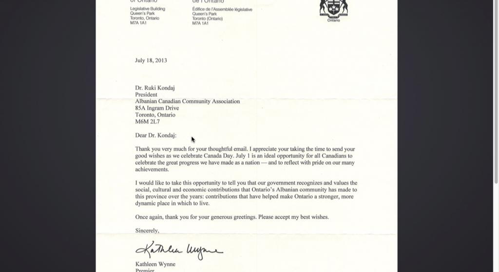 Premier of Ontario -2013