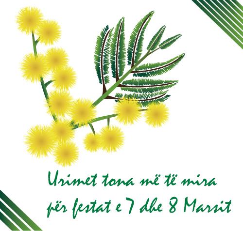 Gëzuar festat e 7 dhe 8 Marsit