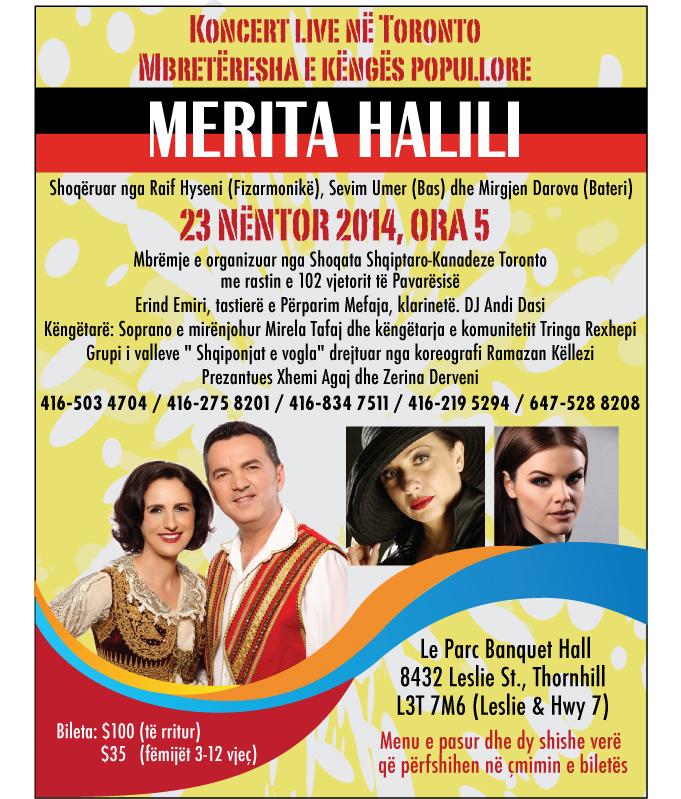 23 Nëntor 2014: Koncerti festiv për Pavarësinë