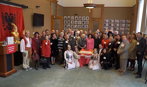 Shpallja e Muajit të Trashëgimisë Shqiptare në Parlamentin e Ontarios